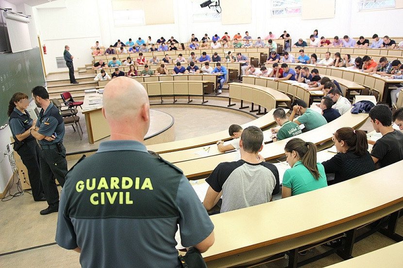 examen oposicion guardia civil